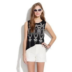 Madewell embroidered tank size M